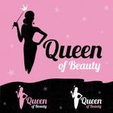 Królowa piękno loga projekt Obraz Stock