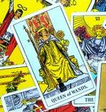 Królowa różdżki Tarot karta royalty ilustracja