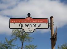 Królowa Uliczny zachód w Toronto Fotografia Stock