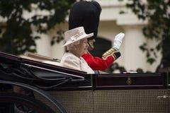 Królowa w carrage Zdjęcie Royalty Free