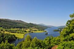 Królowa widok przy Loch Tummel, Szkocja UK -, Zdjęcie Royalty Free