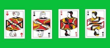 Królowe ustawiać Zdjęcia Stock