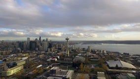 Królowej Anne wzgórza Seattle miasta Waszyngtońska W centrum linia horyzontu zbiory wideo