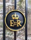 Królowej Elizabeth Królewski grzebień obraz stock