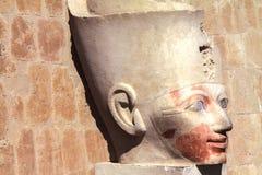Królowej Hatshepsut głowy statua w dolinie królewiątka Egipt obraz royalty free