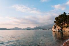 Królowej ` s plaża w terytorium parkowy Milocer obrazy royalty free