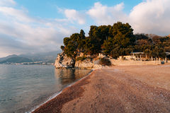 Królowej ` s plaża w terytorium parkowy Milocer zdjęcie stock