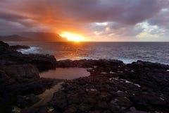 Królowej ` s skąpanie na wyspie Kauai, Hawaje Obrazy Stock