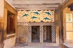 Królowej sala Knossos Zdjęcie Royalty Free