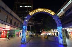 Królowej Uliczny centrum handlowe - Brisbane Queensland Australia Obrazy Royalty Free