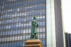 Królowej Wiktoria statuy kwadrat Wiktoria Fotografia Stock