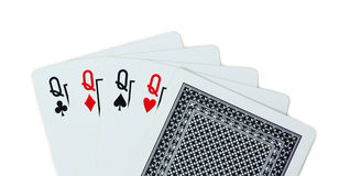 Królowych karta do gry grzebak Zdjęcia Stock