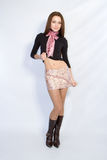 krótka spódnica dziewczyny Fotografia Stock