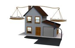 Krótka sprzedaż vs Foreclosure Obraz Stock
