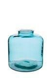 Krótka Turkusowa Cylindryczna Krystaliczna waza Zdjęcie Royalty Free