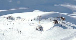 Krótki Narciarski dźwignięcie W Alps 4k zbiory