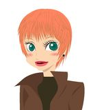 krótkie włosy g - girl. royalty ilustracja