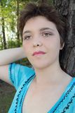 krótkie włosy kobiety Zdjęcia Royalty Free