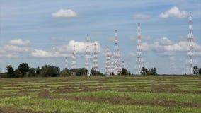Krótkiej fala radia anteny szyk zbiory