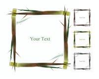 Krótkopęd bambusowa rama Obrazy Royalty Free