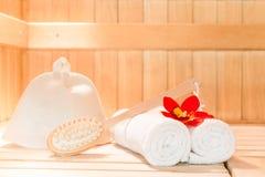 Krótkopęd przedmiot dla skąpania w sauna zdjęcie royalty free