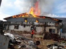 Krótkopędu ekstremum ogień Zdjęcia Stock
