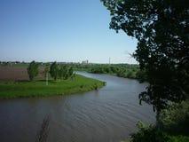 Krökning av floden Royaltyfri Fotografi