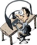 Krökt arbetsstation stock illustrationer