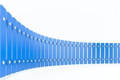 Krökt blåttstaket, perspektivsikt Fotografering för Bildbyråer