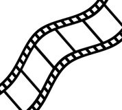 krökt filmstrip Arkivbild