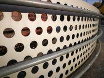 krökt handrail royaltyfri foto