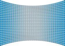 Krökt perspektivblåttglasvägg Royaltyfria Bilder