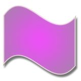 krökt purple för baner Arkivfoto