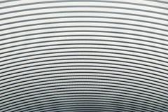 Krökt textur och bakgrund för abstrakt begrepp för tak för metallark Fotografering för Bildbyråer