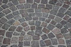Krökt trottoar Arkivbilder