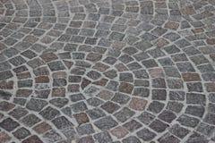 Krökt trottoar Fotografering för Bildbyråer