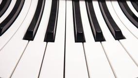 Krökta pianotangenter Royaltyfri Fotografi
