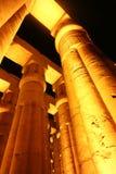 Kröna kolonner som lotusblommablomman av den Luxor templet, Egypten Fotografering för Bildbyråer