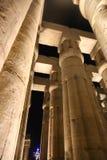 Kröna kolonner som lotusblommablomman av den Luxor templet, Egypten Royaltyfri Foto