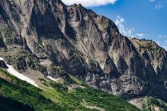 Krönat landskap för buttecolorado berg Arkivfoton