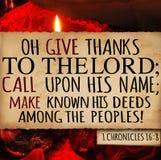 Krönika16:8 för tacksägelse 1 royaltyfri bild