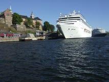krążownik port Oslo Obraz Royalty Free