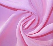 Kręcona niedźwięczna jasnoróżowa tkanina Obraz Royalty Free