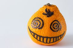 Kręcona oko mandarynka obrazy royalty free