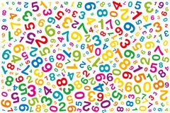 Kręcone barwione liczby na białym tle Obraz Stock