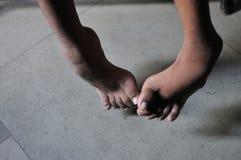Kręcone nogi zdjęcie royalty free