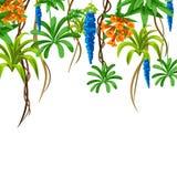 Kręcony dziki lian gałąź tło D?ungla winograd?w ro?liny ilustracja wektor