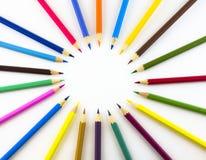 kręgów kolorowe ołówki Fotografia Royalty Free