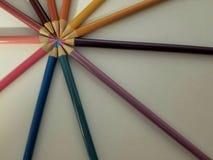 kręgów kolorowe ołówki Fotografia Stock