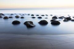 Kręgle piłki plaża zdjęcie stock
